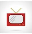Red retro TV flat color design icon vector image