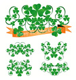 st Patrick ornaments vector image