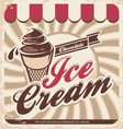 Ice cream retro poster vector image vector image