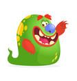 cartoon green monster vector image