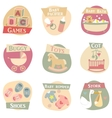 Baby life flat icons vector image