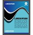 Flyer leaflet booklet layout Blue design templa vector image
