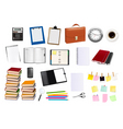business and office supplies vector image vector image