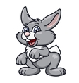 Cute smiling rabbit 2 vector image