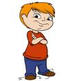 cartoon bad boy hooligan vector image