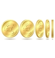 golden coin with euro sign vector image vector image