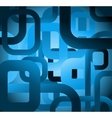 Abstract tile grunge square on blue background vector image