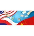 America USA Russia China relation international vector image