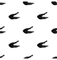 crocodile icon in black style isolated on white vector image