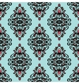 Damask vintage wallpaper seamless background vector image