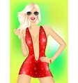 Fashion disco queen vector image
