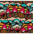 Original drawing tribal dodle spiral vector image