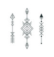 set of graphic arrows for tattoo design vector image