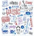 sketchy music illustrations vector image