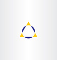 triangle and circle geometry logo icon vector image