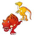 tyrannosaurus velociraptor vector image