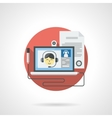 Web lessons detailed color icon vector image
