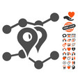 geo markers trends icon with lovely bonus vector image