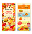 fast food templates for restaurant menu vector image