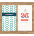 Save the date card pattern green 01 Vector Image