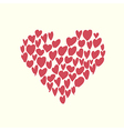 heart shaped vector image