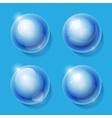 Realistic shiny transparent glass spheres set vector image