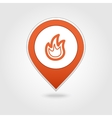 Fire map pin icon vector image