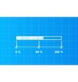 Digiral download bar on a blueprint background vector image
