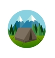 camp forest mountain flat graphic icon vector image