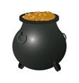 lucky pot o gold icon vector image