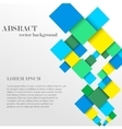 Abstract geometric shape from diamonds vector image