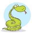 Cartoon Coiled Happy Viper vector image