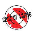 cost of living rubber stamp vector image