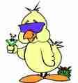 Funny Duckling vector image