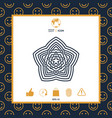 geometric oriental arabic pattern element for vector image