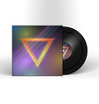 Retro Vinyl Record 1980s Style Cover with Neon vector image