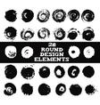 Set of 28 round design elements vector image