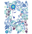 Winter Girl with Floral3 vector image