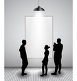 Silhouette of people in Background with Lighting vector image vector image