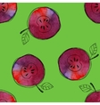 Seamless pattern of watercolor red apple vector image