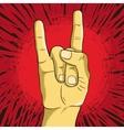 rock n roll symbol - human hand - gesture vector image vector image