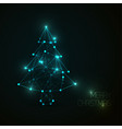 low poly christmas treepoly art vector image