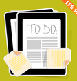 To do list - - EPS10 vector image vector image