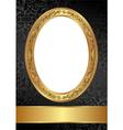 gold black frame vector image
