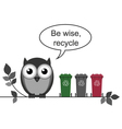 Recycle message vector image