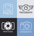 set of photography logos vector image vector image