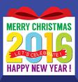 2016 Greeting Card Flat Design vector image