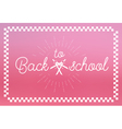 Back to School Label vector image vector image