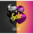 Black Friday and Cyber Monday Sale concept vector image