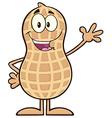 Royalty Free RF Clipart Happy Peanut Cartoon vector image vector image